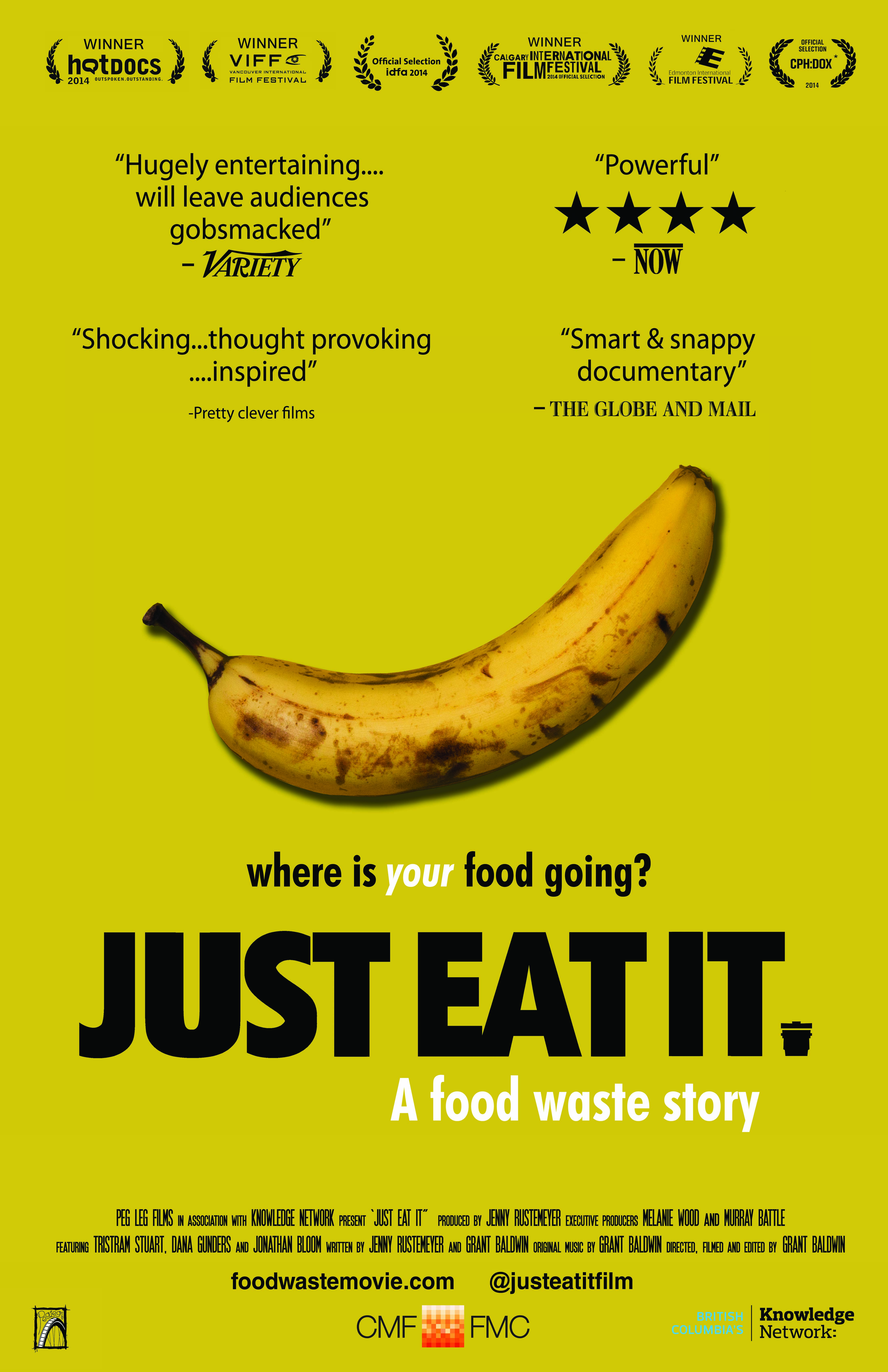 Film poster 'Just Eat It' (Photo credit: Peg Leg Films, 2014)