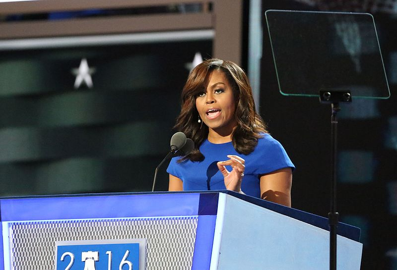First Lady Michelle Obama at the DNC 2016