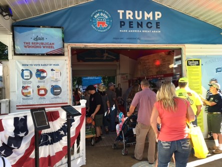 Minnesota State Fair, Trump/Pence booth