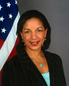 Susan Rice spoke at Georgetown on September 14.